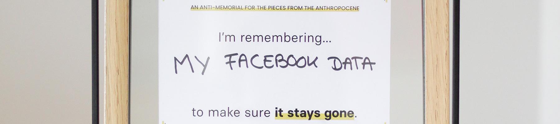 Datamnatio memoriae, the anti-memorial